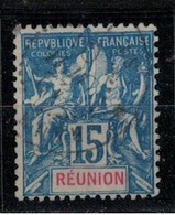 REUNION            N°     YVERT   37       OBLITERE       ( Ob  5/14 ) - Oblitérés