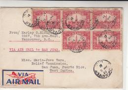 Canada / Airmail / Puerto Rico / 1930 Hurricane Relief Program / Natural Disasters - Non Classés