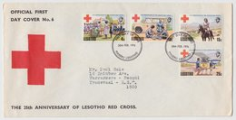 Lesotho FDC 25th Anniversary RED CROSS 1976 - Cruz Roja