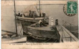 5THS 817 CPA - CAP FERRET - DEPART DU COURRIER POUR ARCACHON - Francia