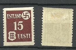Estland Estonia 1941 German Occupation Dorpat Tartu Abart ERROR Michel 1 Y Uw * - Estonie