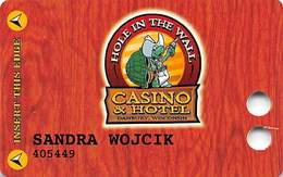 Hole In The Wall Casino - Danbury, WI - Slot Card - No Manufacturer Mark - Casino Cards