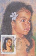 Carte  Maximum  1er  Jour   POLYNESIE      Peintres  En   Polynésie    1994 - Cartes-maximum