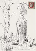 Carte  FRANCE  LA  PREHISTOIRE  En  LIMOUSIN   Circuit  Des  Mégalithes   CIEUX  1980 - Préhistoire