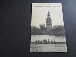 Belgique  België  ( 163 ) Grembergen : Toren Der Kerk - Service Militaire Oorlog 18/9/1914 Terugtrekken Van Het Leger - Dendermonde