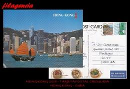 ASIA. HONG KONG. ENTEROS POSTALES. TARJETA POSTAL CIRCULADA 2018. HONG KONG-CUBA. PAISAJES - 1997-... Chinese Admnistrative Region