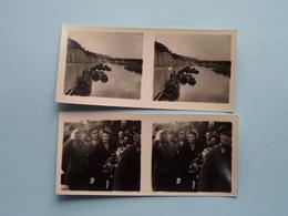 INHULDIGING ALBERTKANAAL 16-10-1934 Inauguration ( Série N° 219 ) ANTWERP Stéréo - Ch. DU HOUX ( Zie / Voir Photos ) ! - Photos Stéréoscopiques