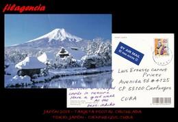 ASIA. JAPÓN. ENTEROS POSTALES. TARJETA POSTAL CIRCULADA 2018. TOKIO. JAPÓN-CIENFUEGOS. CUBA. JUGUETES. MONTAÑAS - 1989-... Emperor Akihito (Heisei Era)