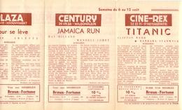 Pub Reclame Ciné Cinema Bioscoop - Programma Majestic Plaza Century Rex - Gent - 6 Aug 1953 - Titanic - Publicité Cinématographique