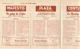 Pub Reclame Ciné Cinema Bioscoop - Programma Majestic Plaza Century Rex - Gent - 5 Nov  1953 - Bioscoopreclame
