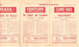 Pub Reclame Ciné Cinema Bioscoop - Programma Majestic Plaza Century Rex - Gent - 6 Nov  1952 - Bioscoopreclame