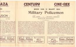 Pub Reclame Ciné Cinema Bioscoop - Programma Majestic Plaza Century Rex - Gent - 12 Maart 1954 - Publicité Cinématographique