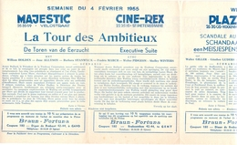 Pub Reclame Ciné Cinema Bioscoop - Programma Majestic Plaza Century Rex - Gent - 4 Februari 1955 - Publicité Cinématographique