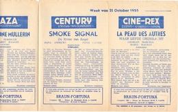 Pub Reclame Ciné Cinema Bioscoop - Programma Majestic Plaza Century Rex - Gent - 21 October 1955 - Publicité Cinématographique