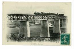 Sancerre - Le Viaduc (un Train à Vapeur Le Franchi, Vignes Au Premier Plan) Circulé 1912 - Sancerre