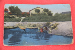 Genova Val Fontanabuona Tribogna 1918 Con Lavandaie + Usura Negli Angoli - Altre Città
