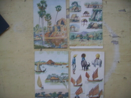 Indochine Lot De 10 Cpa Annam Cambodge Cochinchine - Cartes Postales