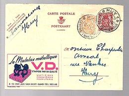 1949 Le Matelas M'etallique V.D. Gand Rue Jan Van Gent > HUY (706) - Stamped Stationery