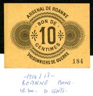 Roanne  42  Pg  1914/18  10  Cents - Bonds & Basic Needs