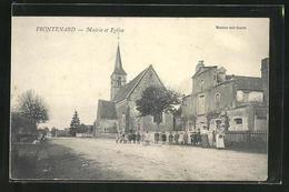 CPA Frontenard, Mairie Et Eglise - Frankreich