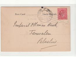 G.B. / London / Bank Of Persia Perfins / Palestine / Jerusalem - 1902-1951 (Rois)