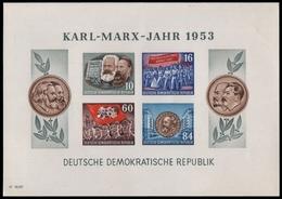 DDR 1953 - Mi-Nr. Block 9 B YI ** - MNH - Karl-Marx-Jahr - DDR