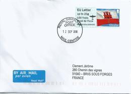 Vignette D'affranchissement IAR - ATM - 100 Ans De La Royal Air Force - Gibraltar