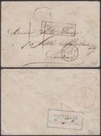 """ALSACE  LETTRE DE PARIS 11/02/1871 VERSO """"VERSAILLES AUSWECHSELURC3 STELLE"""" VERS LONDRES (8G35203) DC-3878 - Alsace-Lorraine"""