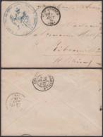"""ALSACE LETTRE """"NEUF-BRISAU"""" 01/08/1870 CACHET AIGLE (8G35203) DC-3887 - Alsace-Lorraine"""