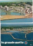 2 CP De La Grande Motte - Vue Aérienne , Le Port - Other Municipalities