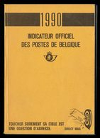 Indicateur Officiel Des Postes Belge - 1990 - Avec Son Addendum. - Sellos