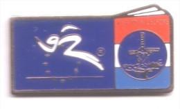 CC184 Bis Pin's Albertville Jeux Olympiques Europe Non Signé Moulin à Vent Mill Achat Immediat - Sports D'hiver