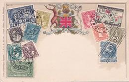 CPA - Canada - Carte Philatélique The Province Of British Columbia - Timbres Divers Du Canada  - 1906 - Timbres (représentations)