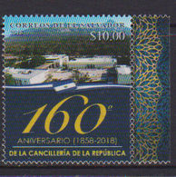 EL SALVADOR, 2018, MNH,ARCHITECTURE, MOUNTAINS, 160th ANNIVERSARY OF THE CHANCELLERY,1v - Architecture