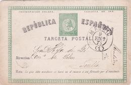 Entier  Postal Stationery - Espagne / Républica Española - 1875 - 1850-1931