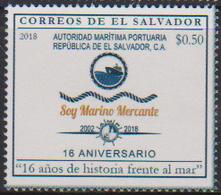 EL SALVADOR, 2018, MNH, PORT AUTHORITY, SHIPPING, SHIPS, 1v - Barche