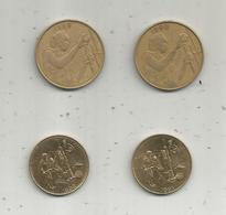 Banque Centrale Des Etats De L'AFRIQUE De L'OUEST ,  2 Scans , LOT DE 4 MONNAIES - Monedas & Billetes