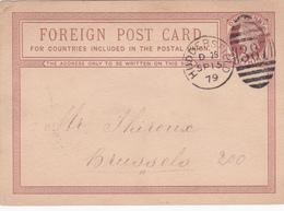 Entier  Postal Stationery - Grande-Bretagne / Great Britain - 1879 - Surcharge - Surpiqué Au Dos - Interi Postali