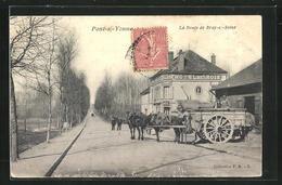 CPA Pont-sur-Yonne, La Route De Bray-sur-Seine - Pont Sur Yonne