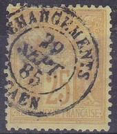 France,  Yvert N° 92 Oblitéré Chargements Caen - Marcophilie (Timbres Détachés)