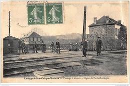 LONGPRE-les-CORPS-SAINTS : Passage à Niveau, Ligne De Paris-boulogne - Etat - Francia
