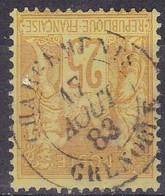 France,  Yvert N° 92 Oblitéré Chargements Grenoble - Marcophilie (Timbres Détachés)