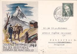Journée Du Timbre 1946 - Sion - Timbre Pro-Juventute N° 344 - Pro Juventute