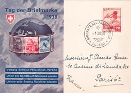 Journée Du Timbre 1938 - Lugano - Timbre Pro-Juventute N° 318 - Pro Juventute