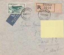 ENVELOPPE TIMBREE CAMEROUN DOUALA Pour La FRANCE En 1945 - Camerún (1915-1959)