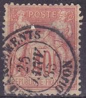 France,  Yvert N° 94 Oblitéré Chargements Dijon - Marcophilie (Timbres Détachés)