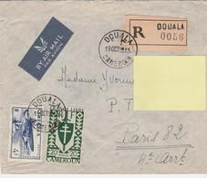 ENVELOPPE TIMBREE CAMEROUN DOUALA Pour La FRANCE En 1945 - Otros