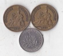 2 Francs Chambre De Commerce  - 1925 + 1923 + 1 FRANC 1960 - France