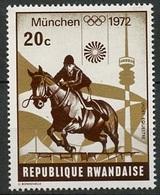 Rwanda - Ruanda 1972 Y&T N°485 - Michel N°521 *** - 20c JO De Munich - Rwanda