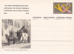 Entier Postal Stationery - Suisse/Switzerland - Centenaire Des Postes Fédérales - Distribution Des Colis - 1949 - ETAT - Entiers Postaux